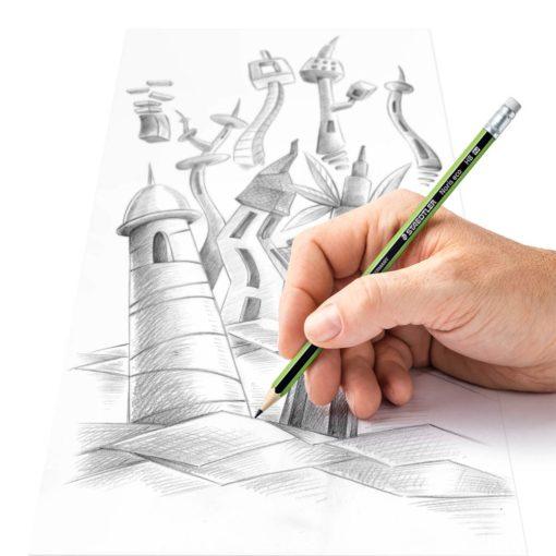 Staedtler Noris Eco Pencil - Eraser Tip