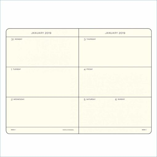 Leuchtturm A5 2019 week to view planner