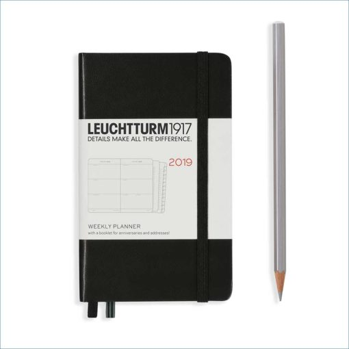Leuchtturm A6 week to view - black