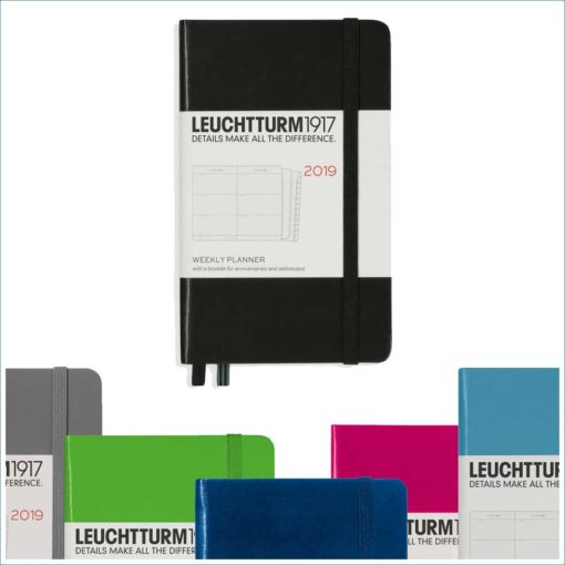 Leuchtturm A6 week to view - colours