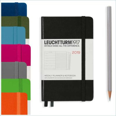 leuchtturm A6 week to view with notebook 2019