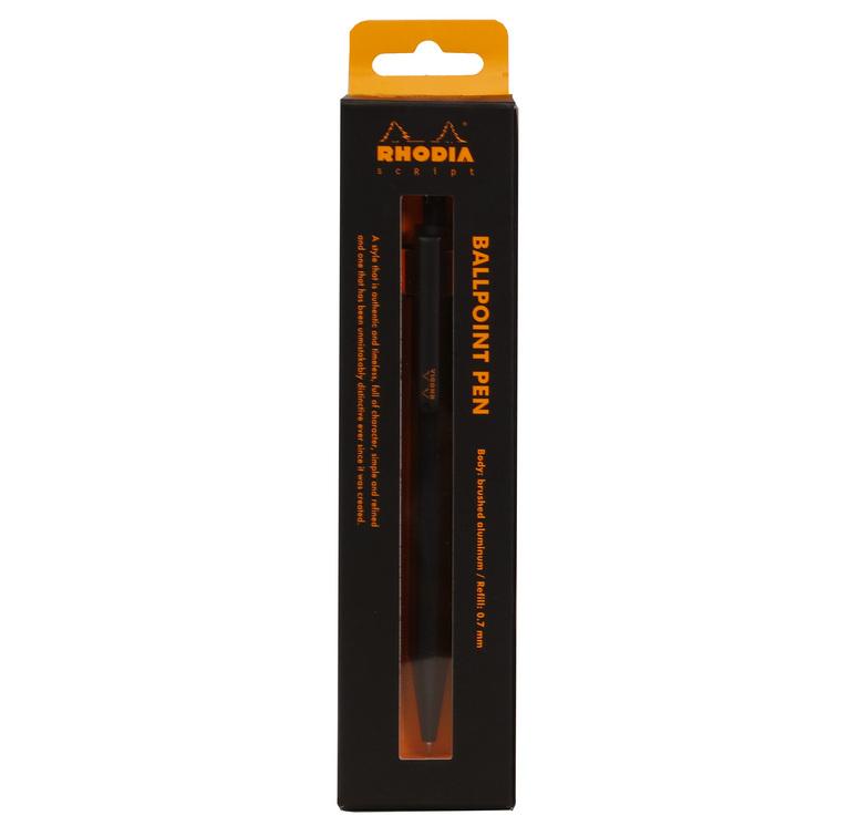 Rhodia-script-ballpoint-pen-black-boxed