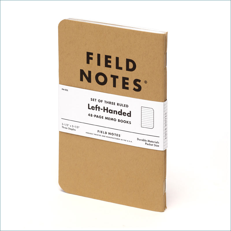 FN-02L Field Notes Left Handed Kraft Memo Books