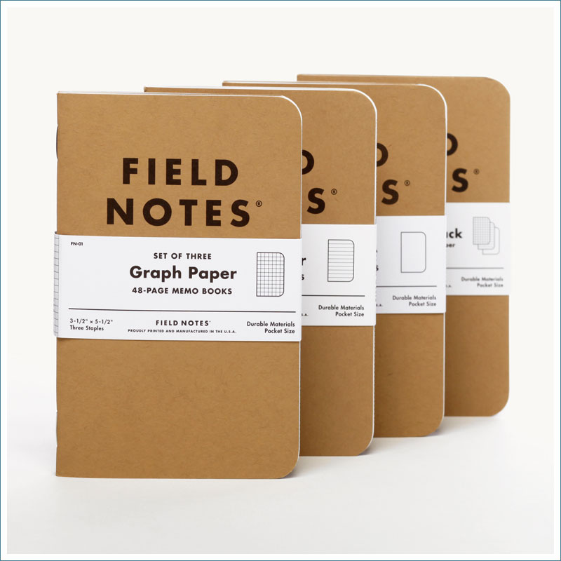 Field Notes Kraft Memo Books
