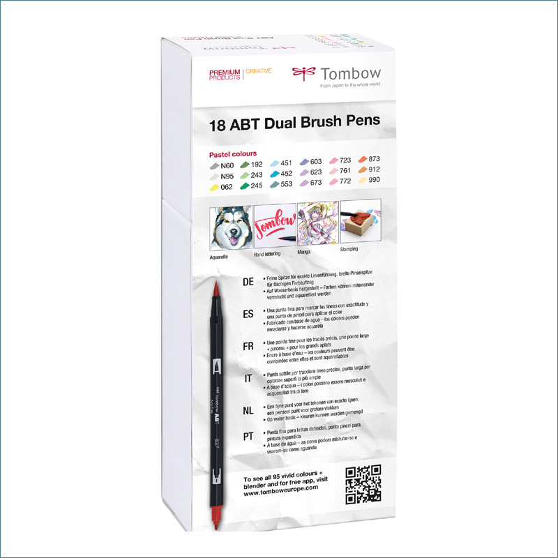 tombow pastel-dual-18-pack