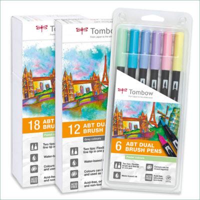 tombow pastel-dual-brush-sets