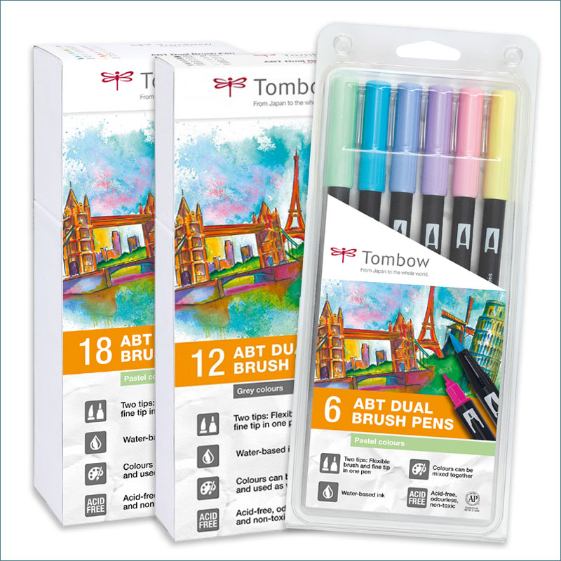 tombow pastel-dual-brush-sets