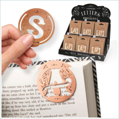 metal bookmark literary letters