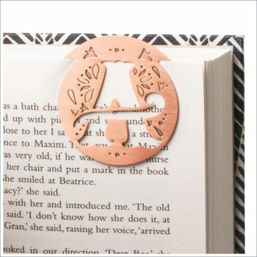 metal bookmark literary letters