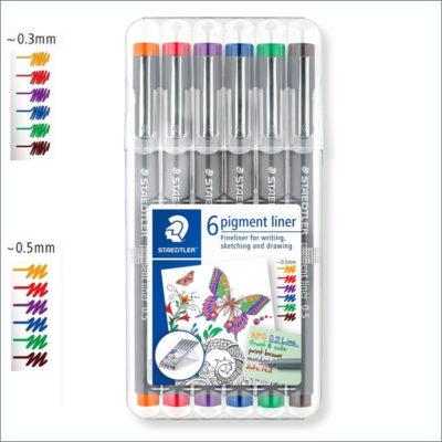 Staedtler pigment liner colours