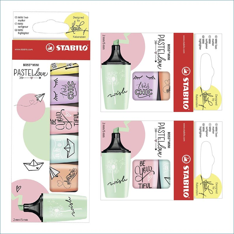 Stabilo Pastellove mini highlighters