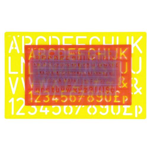Helix letter stencils set