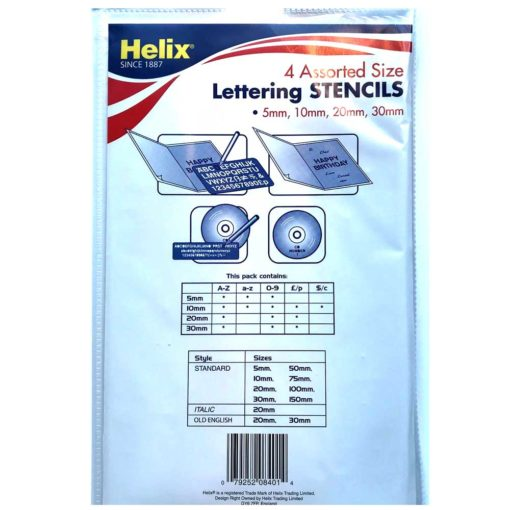 Helix letter stencils