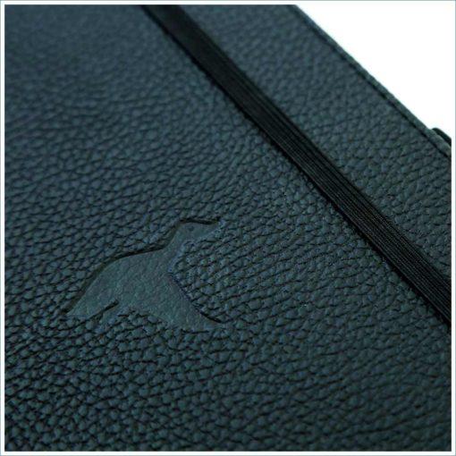 Dingbats black duck notebook debossed duck