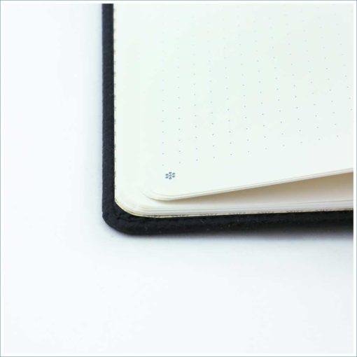 Dingbats black duck notebook - dotted