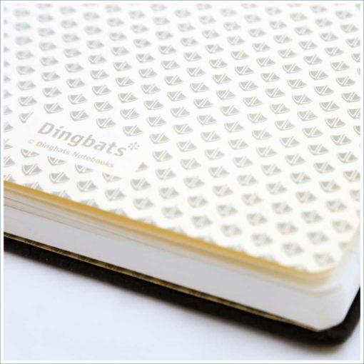 Dingbats black duck notebook - duck feet