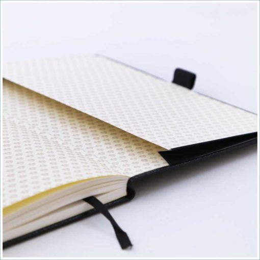 Dingbats black duck notebook - inner pocket