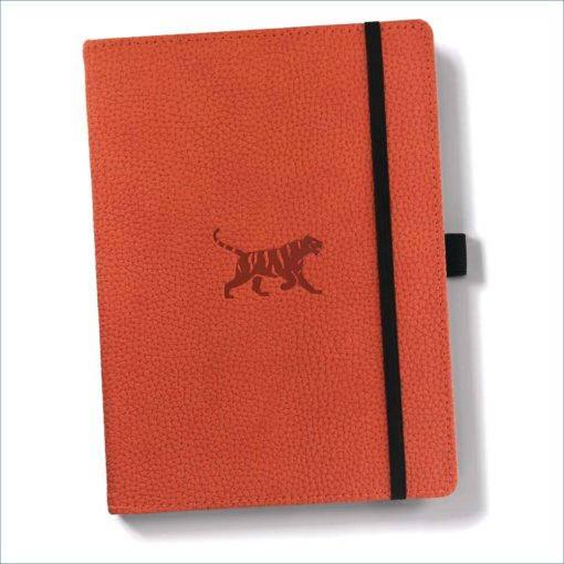 Dingbats orange tiger notebook -