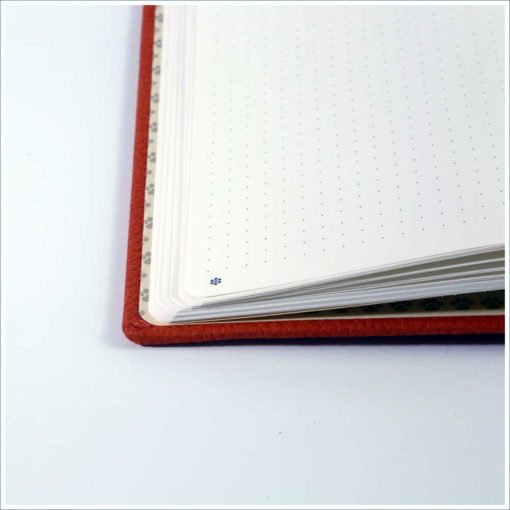 Dingbats orange tiger notebook - dotted grid