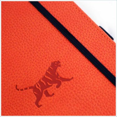 Dingbats orange tiger notebook - tiger deboss