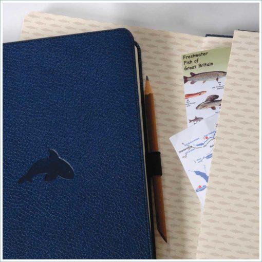 Dingbats whale notebook - detail
