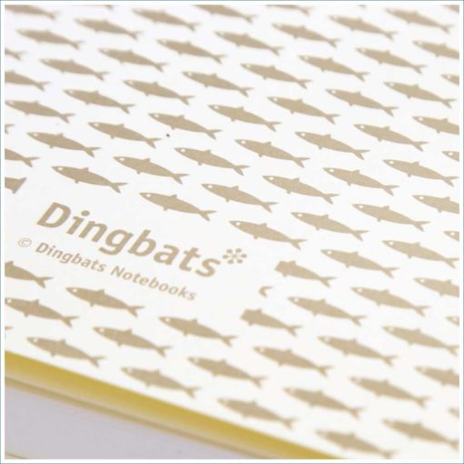 Dingbats whale notebook - fish inner cover
