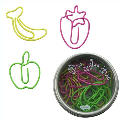 paperclips fruit tin