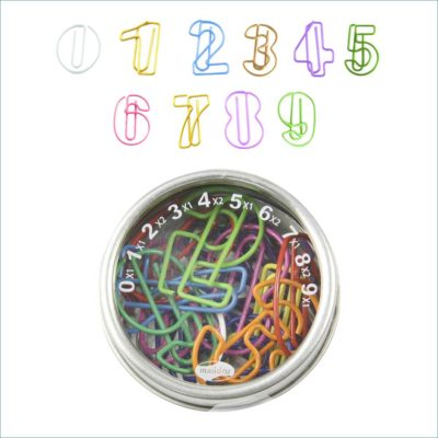 Paperclips numbers tin