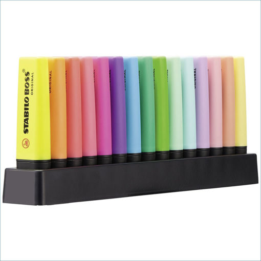 Stabilo Boss highlighters 15 pack deskset