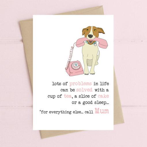 A poignant greeting card