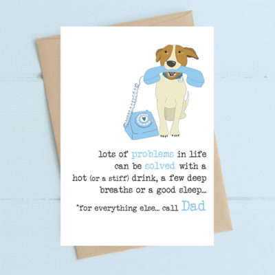A poignant greeting card