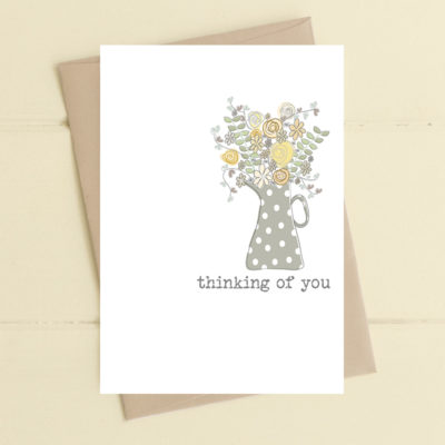 A poignant greetings card