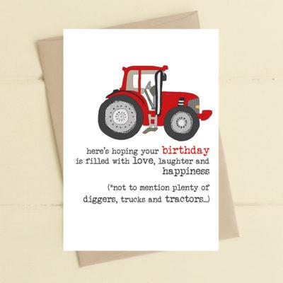 A poignant greetings card
