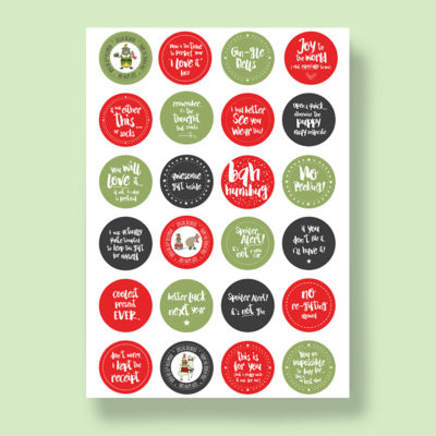 Wrapping Labels - Christmas - 24 labels per sheet (1 sheet per pack)