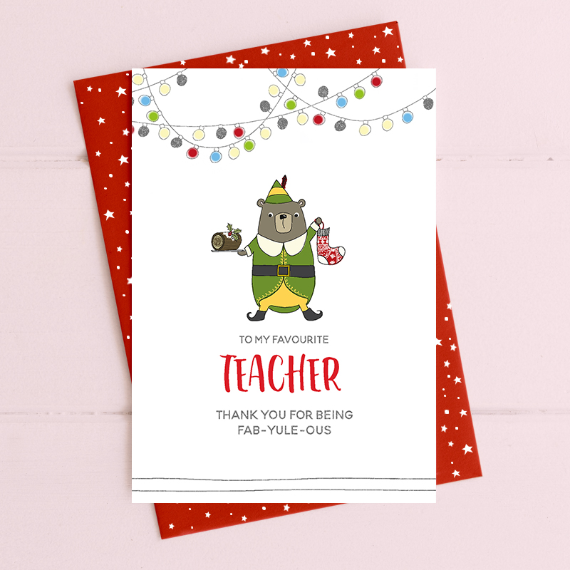 Teacher - thank you for being fab-yule-ous