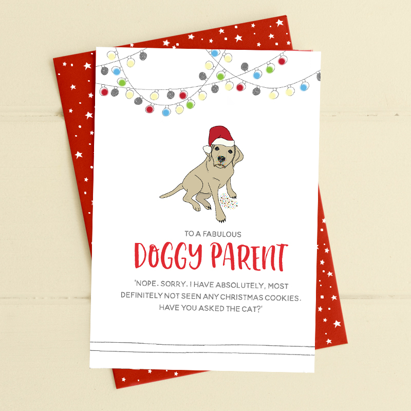 Doggy Parent - Christmas cookies & dog