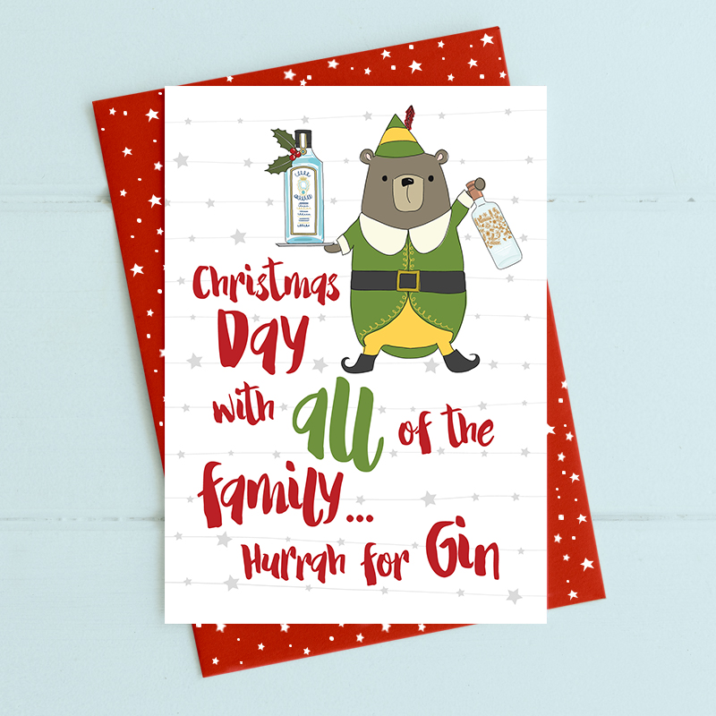 Christmas day with all the family. Hurrah for Gin.