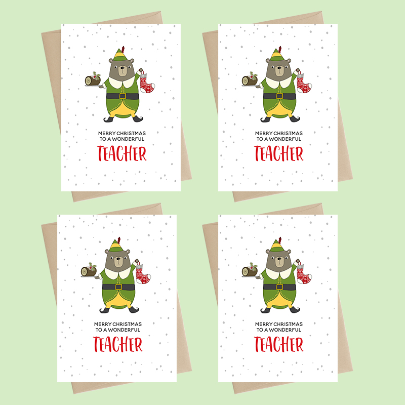 Mini Card Pack - Xmas - Teacher