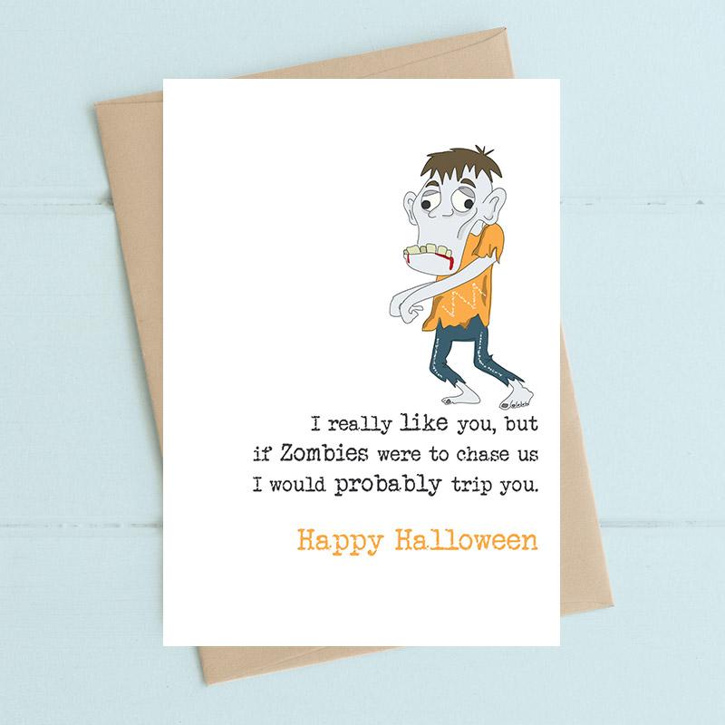 Halloween - Zombies - I would trip you