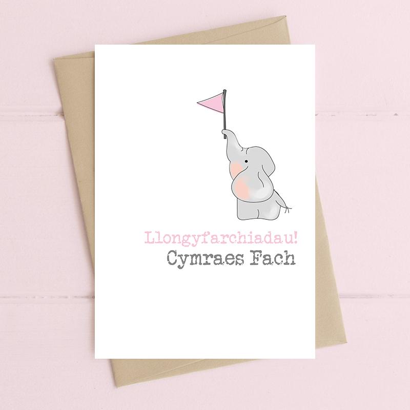 Llongyfarchiadau, Cymraes Fach (Congratulations a new Welsh Girl)