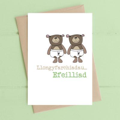 Llongyfarchiadau....Efeilliad (Congratulations...Twins)