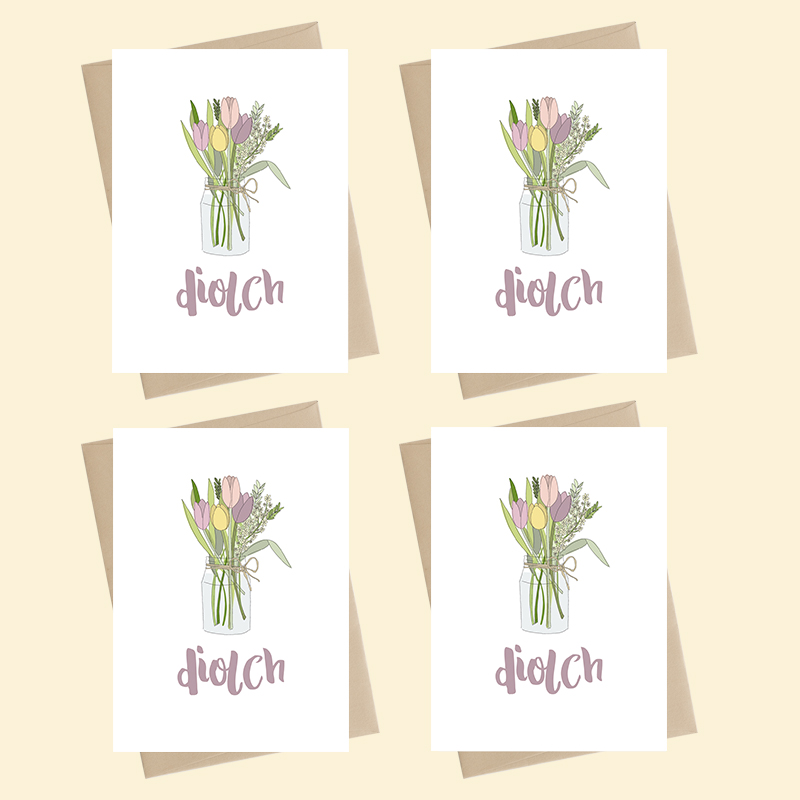 Mini Card Pack - Diolch / Thank you