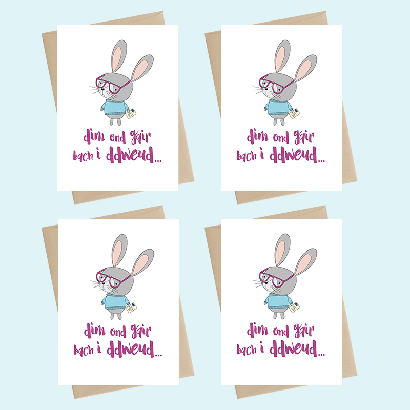 Mini Card Pack - dim ond gair bach i ddweud / just a little note to say
