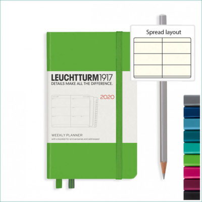 Leuchtturm A6 2020 planner - week to view