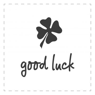 Good Luck & Best Wishes