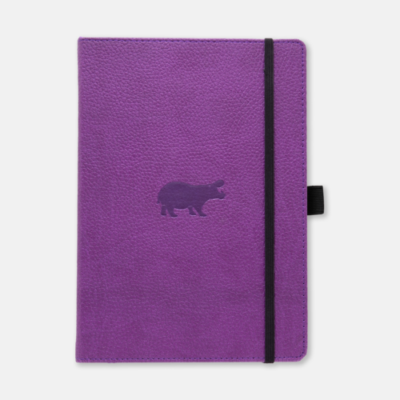 Dingbats Hippo A5 Purple Notebook