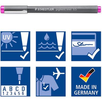 Staedtler Pigment Liner 12 pack 0.5mm