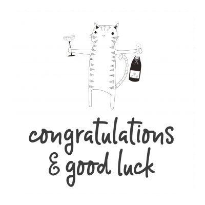 Congrats / Good Luck / Thanks