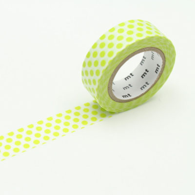 1p-dot-lime-MT-Washi-Tape