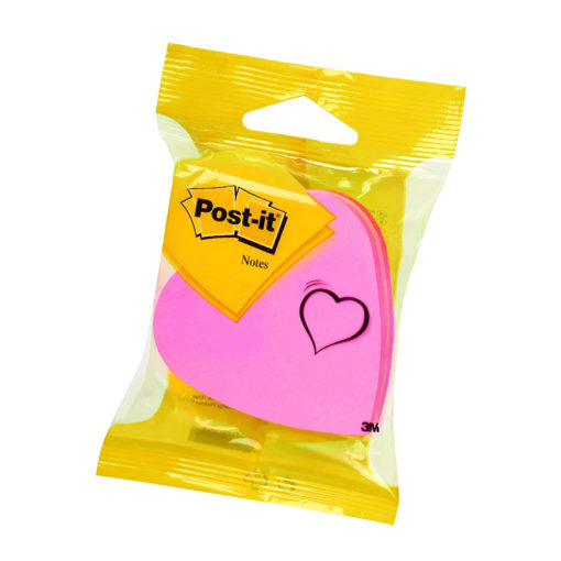 post-it heart shaped sticky notes